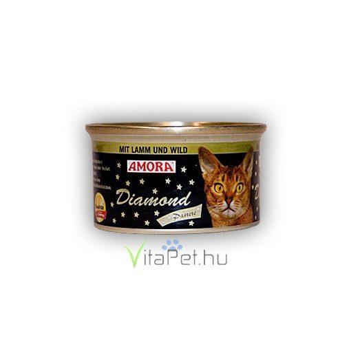Amora Diamond Katze Lamm+Wild, (bárány + vadhús ízű) konzerv macskáknak, 200 g