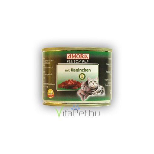 Amora Fleisch Pur Katze Kaninchen, konzerv macskáknak, 200 g