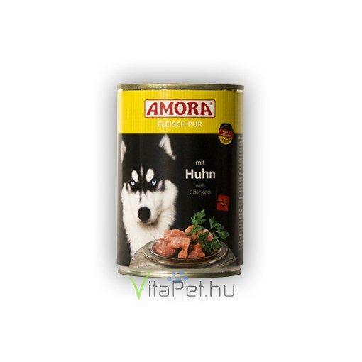Amora Fleisch Pur Hund Huhn, (Csirkehúsos) konzerv kutyáknak, 400 g