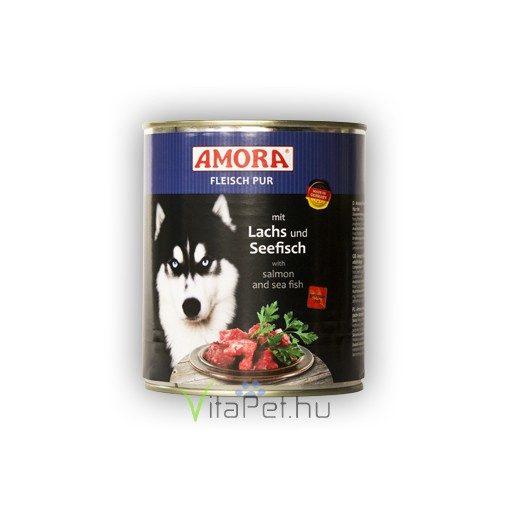 Amora Fleisch Pur Hund Lachs+Seefisch, konzerv kutyáknak, 800 g