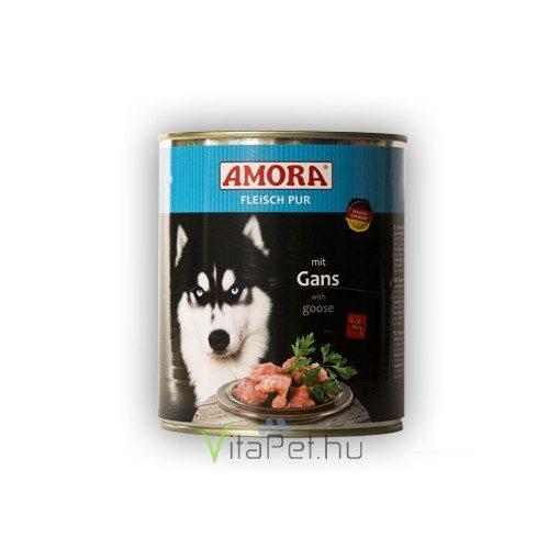 Amora Fleisch Pur Hund Gans, konzerv kutyáknak libahússal, 800 g