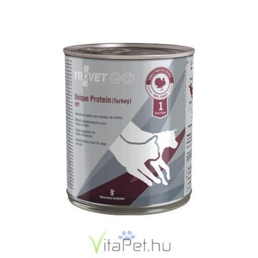 Trovet Unique Protein Turkey UPT (pulykás) konzervtáp kutyának és macskának 800 g