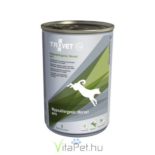 TROVET Hypoallergenic HORSE&POTATO Diet (HPD) kutyáknak  12 x 400 g konzerv