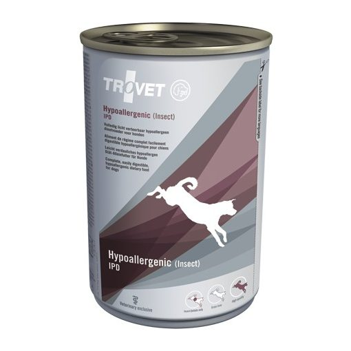 Trovet Hypoallergén IPD (rovarfehérje+burgonya) konzervtáp kutya 400 g