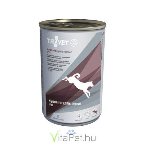 TROVET  Hypoallergenic INSECT&POTATO Diet/IPD kutyáknak  6 x 400 g konzerv