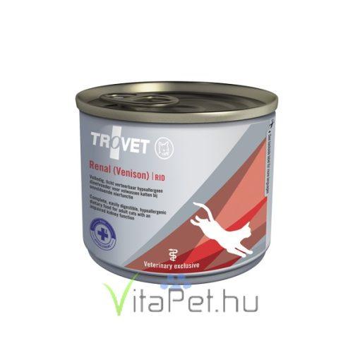 TROVET RENAL HYPOALLERGENIC DIET/RID  konzerv macskáknak 12x200 g Venison