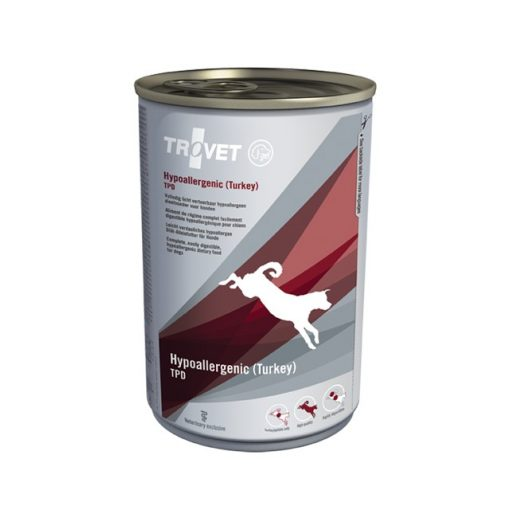 Trovet Hypoallergén TPD (pulyka+burgonya) kutya konzervtáp 400 g