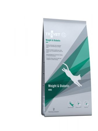 Trovet Weigh and Diabetic (low calorie) dryfood 3 kg cat (WRD)