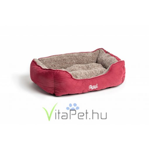 Agui Mountain Square Bed piros kutya / cica fekhely  47x37x17 cm