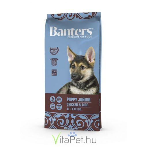 VISÁN BANTERS DOG PUPPY JUNIOR CHICKEN & RICE 15 kg
