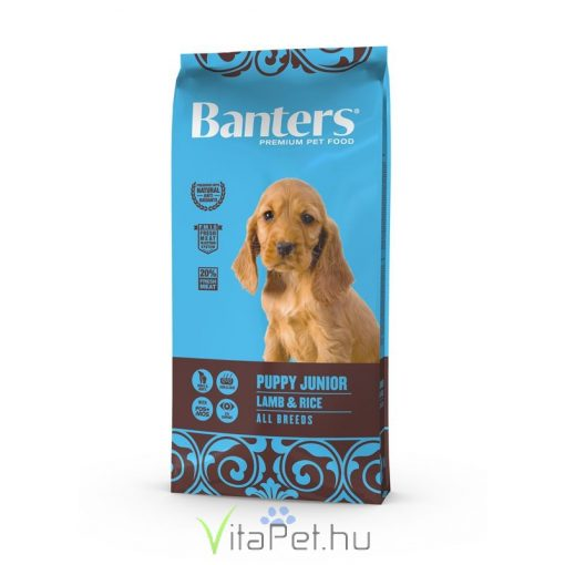 VISÁN BANTERS DOG PUPPY JUNIOR LAMB & RICE 15 kg
