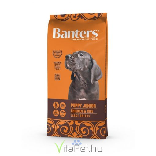 VISÁN BANTERS DOG PUPPY JUNIOR LARGE BREED CHICKEN & RICE 15 kg