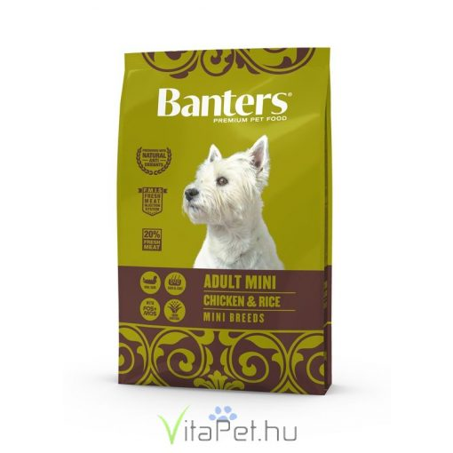 VISÁN BANTERS DOG ADULT MINI CHICKEN & RICE 8 kg