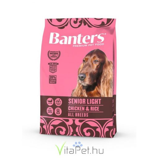 VISÁN BANTERS DOG SENIOR LIGHT CHICKEN & RICE 3 kg