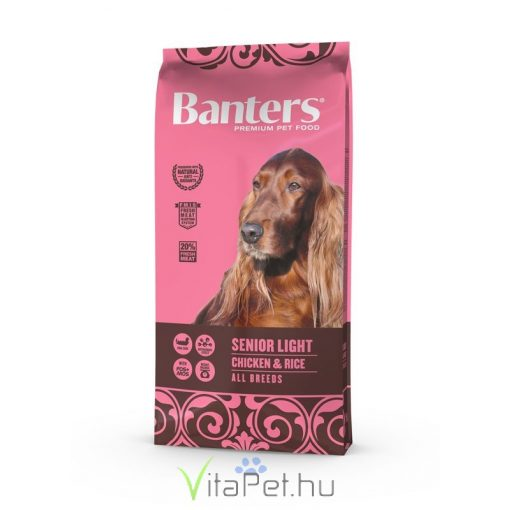 VISÁN BANTERS DOG SENIOR LIGHT CHICKEN & RICE 15 kg