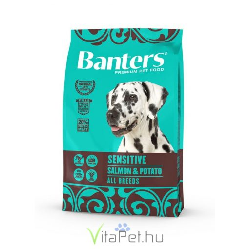VISÁN BANTERS DOG SENSITIVE  SALMON & POTATO 3 kg