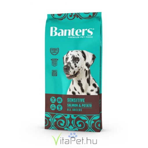 VISÁN BANTERS DOG SENSITIVE  SALMON & POTATO 15 kg