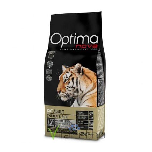 Visán Optimanova Cat Adult Chicken & Rice 2 kg