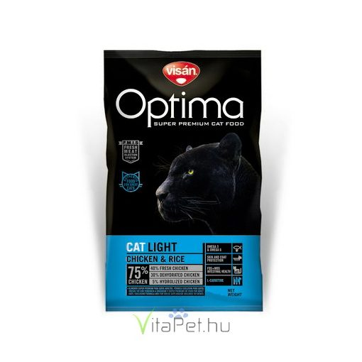 Visán Optimanova Cat Light Chicken & Rice 400 g