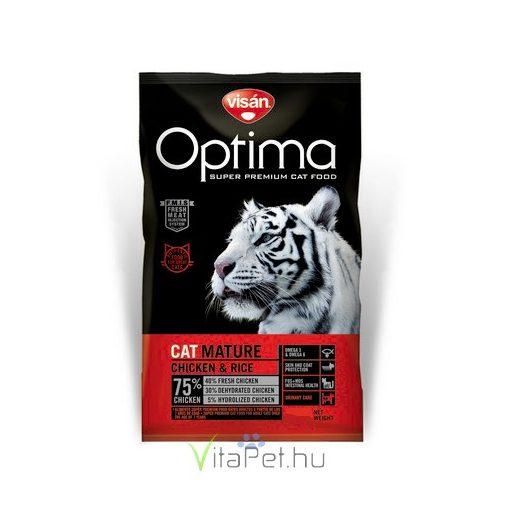 Visán Optimanova Cat Mature Chicken & Rice 2 kg