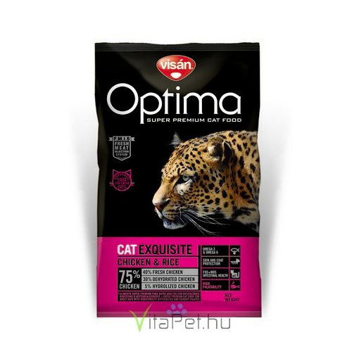 Visán Optimanova Cat Exquisite Chicken & Rice 2 kg