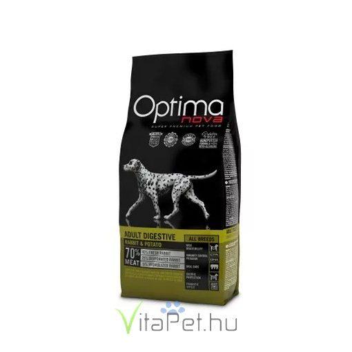 Visán Optimanova Dog Adult Digestive Rabbit & Potato 2 kg