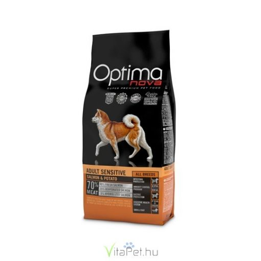 Visán Optimanova Dog Adult Sensitive Salmon & Potato 0,8 kg