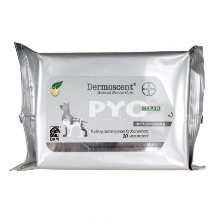 Dermoscent Pyoclean törlőkendő kutyának és macskának 20 db