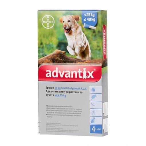Advantix spot on 25-40 kg közötti kutyának 4x1 pipetta