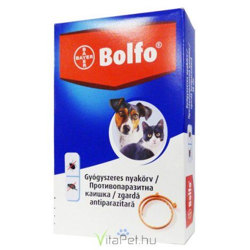 Bolfo bolha és kullancs elleni nyakörv macskák és kistestű kutyák részére 38 cm