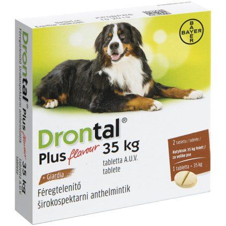 Drontal Plus 35 kg féreghajtó tabletta kutyának 2 tabletta/doboz