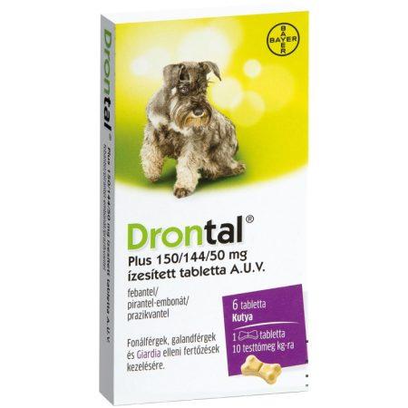 Drontal Plus ízesített féreghajtó tabletta kutyának 6x1 darab