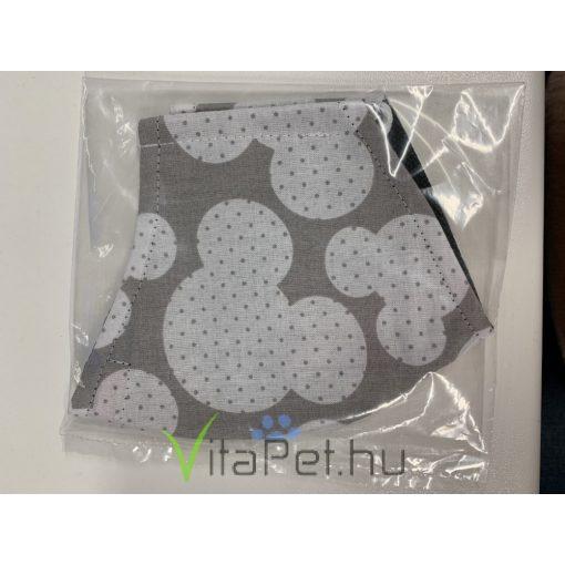 Maszk textil, mintás mosható pöttyös mikiegér mintás