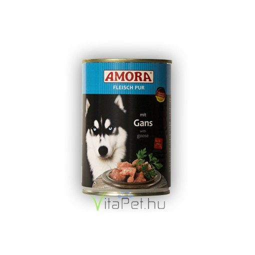 Amora Fleisch Pur Hund Gans, konzerv kutyáknak libahússal, 400 g