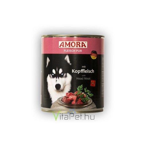 Amora Fleisch Pur Hund Kopffleisch, (Marhahús+ fejhús)  konzerv kutyáknak, 800 g