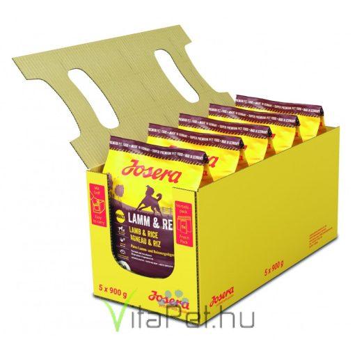 Josera Dog Lamb&Rice  5 x 900 g (4,5 kg) száraz táp felnőtt kutyáknak, Bárány/Rizs