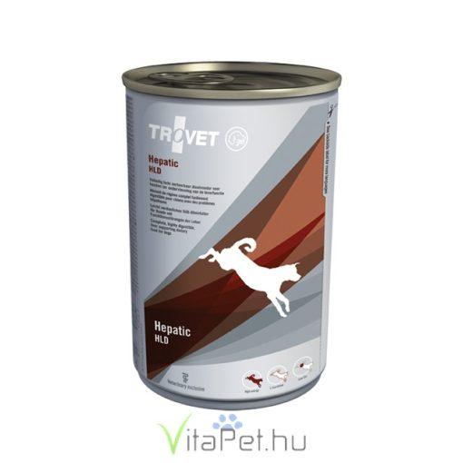 TROVET HEPATIC/HLD Májkímélő táp kutyáknak  12 x 400 g konzerv