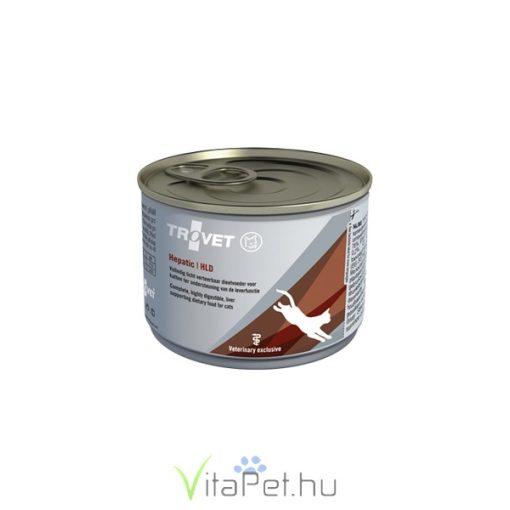 TROVET HEPATIC/HLD Májkímélő konzerv táp macskáknak, 100 g, 12 db
