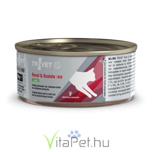 TROVET RENAL & OXALATE DIET/RID LAMB bárányhúsos konzerv macskáknak 100 g a veseműködés támogatására