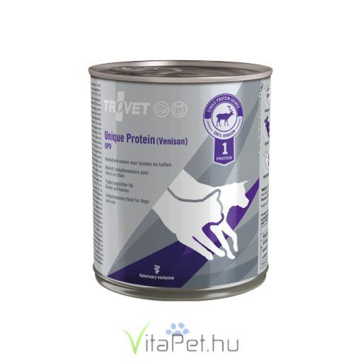 Trovet Unique Protein Venison UPV (vadas) konzervtáp kutyának és macskának 800 g