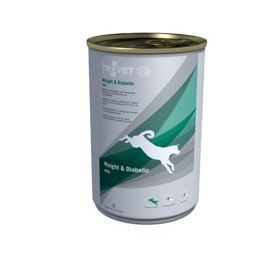 TROVET WEIGHT&DIABETIC./WRD DOG konzerv táp kutyáknak, 6x400 g