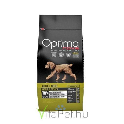 Visán Optimanova Dog Adult Digestive Rabbit & Potato 12 kg