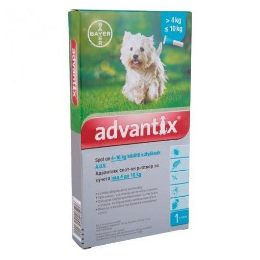 Advantix spot on 4-10 kg közötti kutyának 4x1 pipetta
