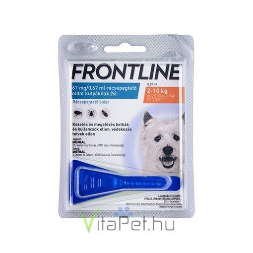 Frontline Spot-on kutyák részére 2-10 kg. S