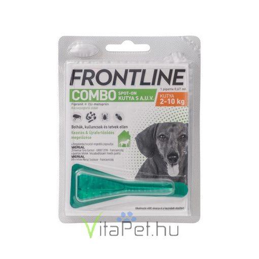 Frontline Combo Spot-On kutyáknak 2-10 ttkg-ig, S-es  méret